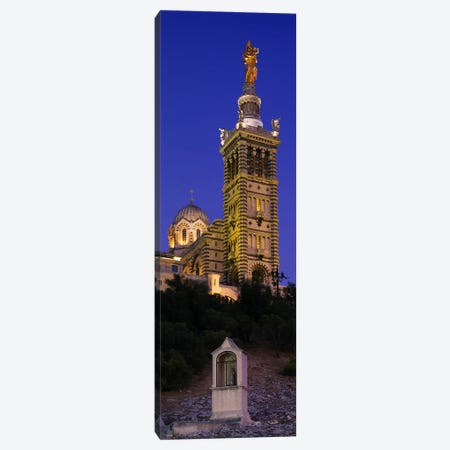 Low angle view of a tower of a church, Notre Dame De La Garde, Marseille, France Canvas Print #PIM6089} by Panoramic Images Canvas Wall Art