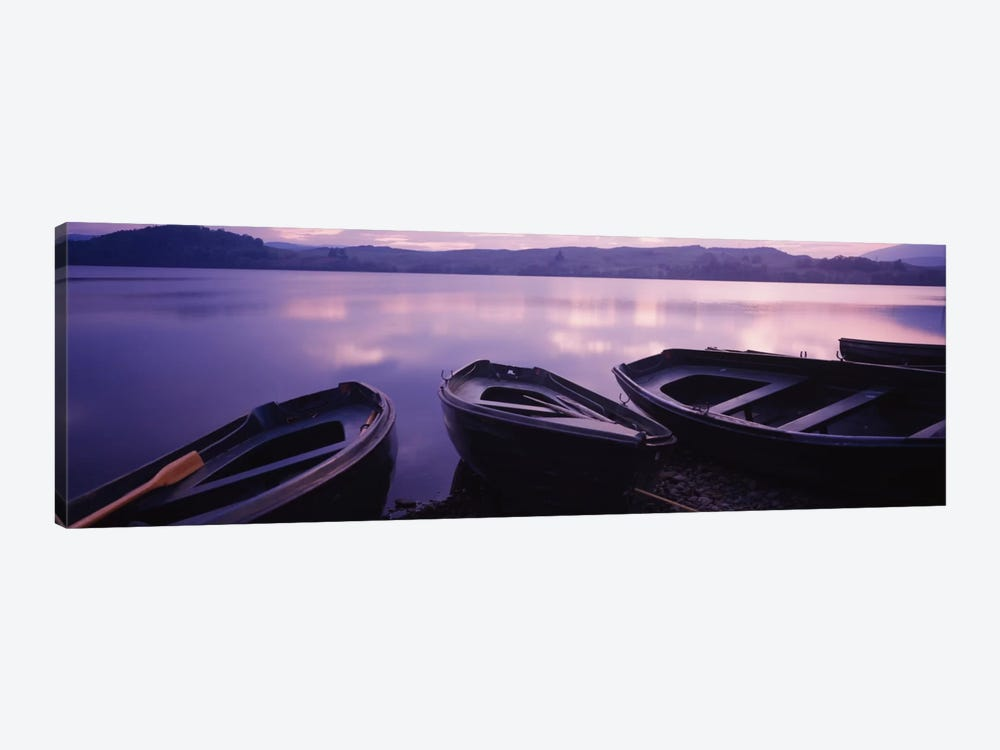 Beached Row Boats, Loch Awe, Argyll and Bute, Highlands, Scotland, United Kingdom by Panoramic Images 1-piece Canvas Art