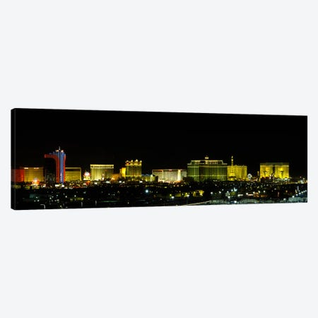 Buildings lit up at night in a city, Las Vegas, Nevada, USA #2 Canvas Print #PIM6091} by Panoramic Images Canvas Print