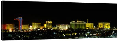 Buildings lit up at night in a city, Las Vegas, Nevada, USA #2 Canvas Art Print