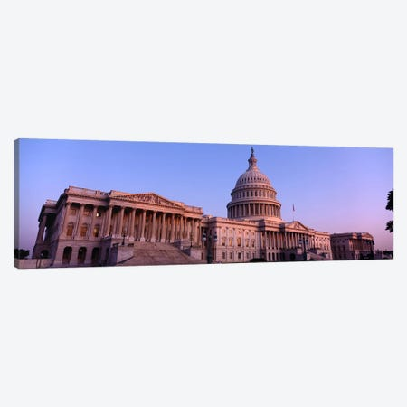 Low angle view of a government building, Capitol Building, Washington DC, USA Canvas Print #PIM6094} by Panoramic Images Canvas Artwork