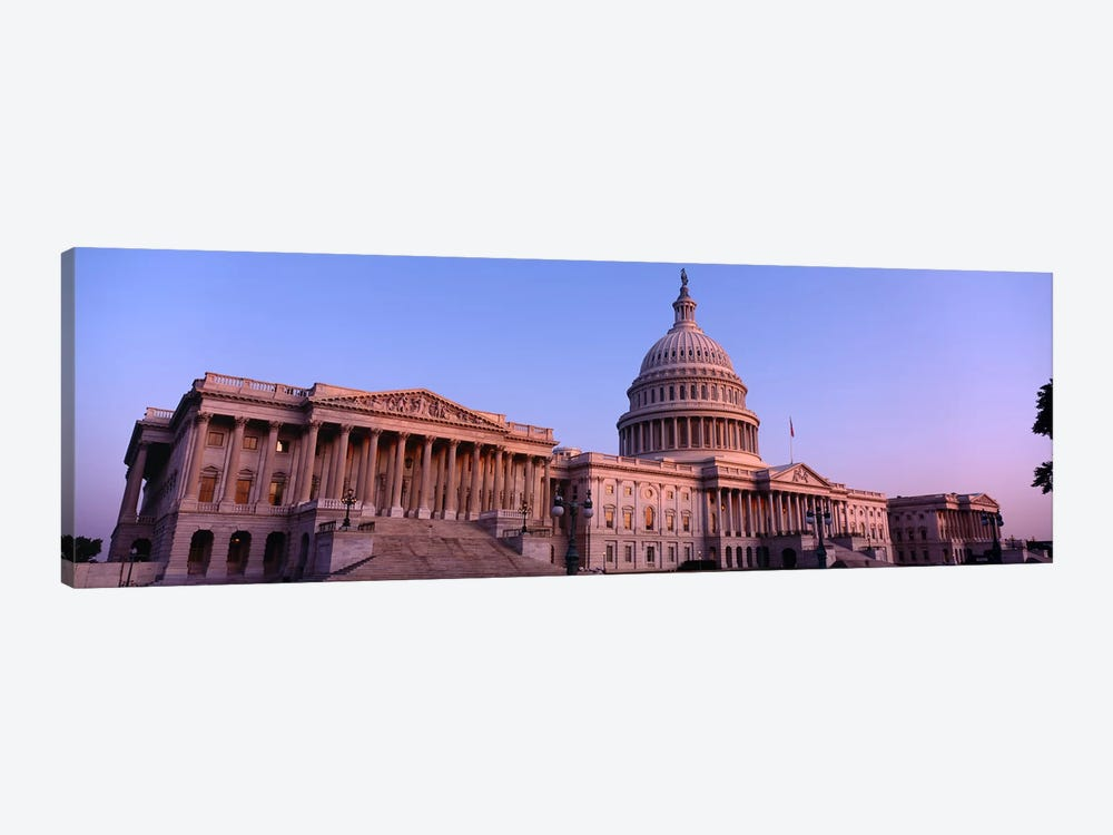 Low angle view of a government building, Capitol Building, Washington DC, USA by Panoramic Images 1-piece Canvas Art Print