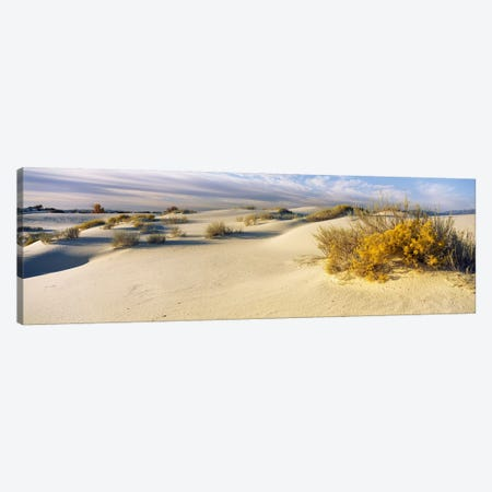 Cloudy Desert Landscape, White Sands National Monument, Tularosa Basin, New Mexico, USA Canvas Print #PIM6097} by Panoramic Images Canvas Art