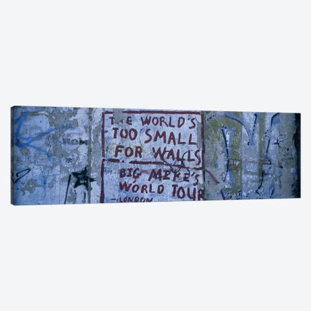 Sociopolitical Graffiti, Berlin Wall, Berlin, Germany Canvas Print #PIM6106} by Panoramic Images Canvas Wall Art