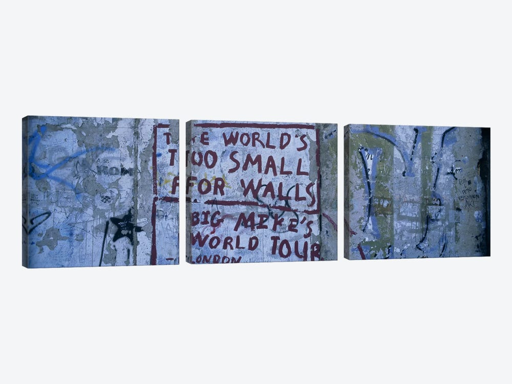 Sociopolitical Graffiti, Berlin Wall, Berlin, Germany by Panoramic Images 3-piece Canvas Art Print