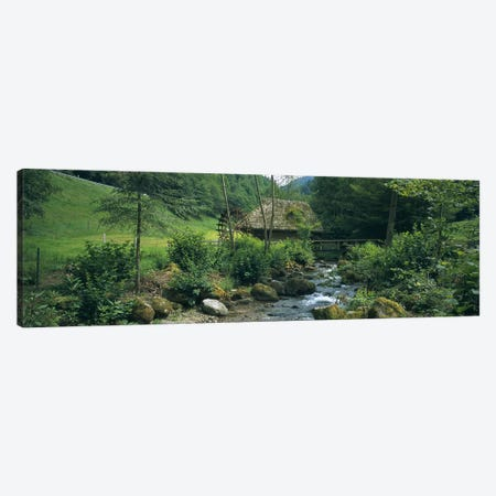 Watermill, Black Forest, Glottertal, Baden-Wurttemberg, Germany Canvas Print #PIM6110} by Panoramic Images Canvas Art
