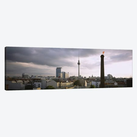 High-Angle View Featuring Berliner Fernsehturm, Mitte, Berlin, Germany Canvas Print #PIM6114} by Panoramic Images Canvas Print