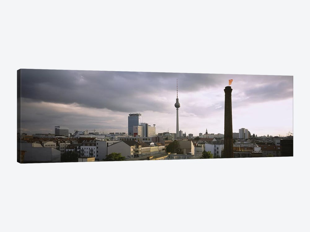 High-Angle View Featuring Berliner Fernsehturm, Mitte, Berlin, Germany by Panoramic Images 1-piece Canvas Wall Art