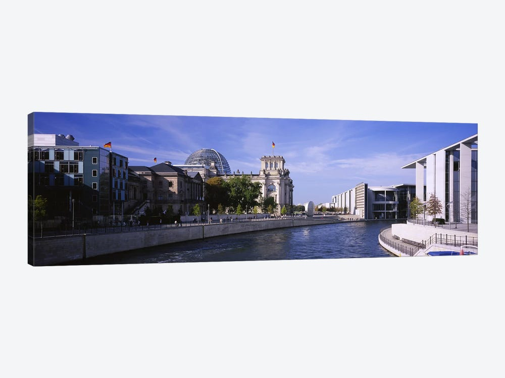 Riverside Architecture, Government District, Berlin, Germany by Panoramic Images 1-piece Canvas Artwork
