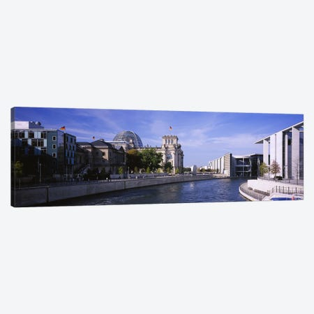 Riverside Architecture, Government District, Berlin, Germany Canvas Print #PIM6118} by Panoramic Images Canvas Wall Art