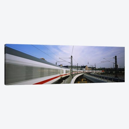 Blurred Motion View Of A High Speed Train, Berlin, Germany Canvas Print #PIM6124} by Panoramic Images Canvas Artwork