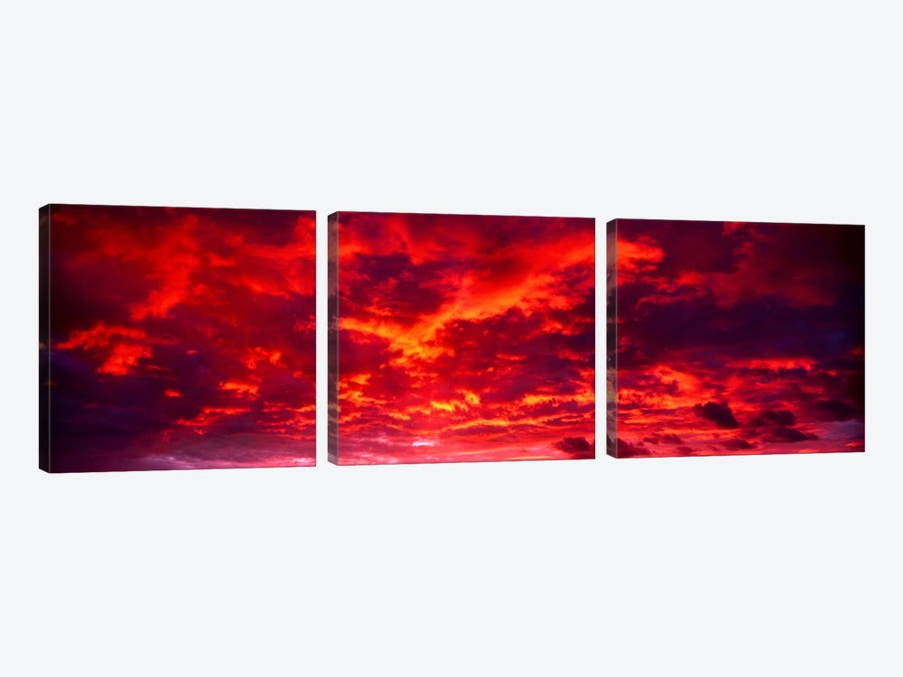 Sunset Dragoon Mountains AZ by Panoramic Images 3-piece Canvas Art Print