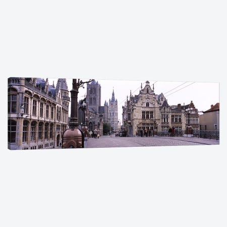 Tourists walking in front of a church, St. Nicolas Church, Ghent, Belgium Canvas Print #PIM6148} by Panoramic Images Canvas Print