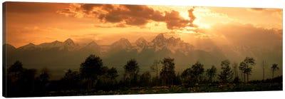 Dawn Teton Range Grand Teton National Park WY USA Canvas Print #PIM614