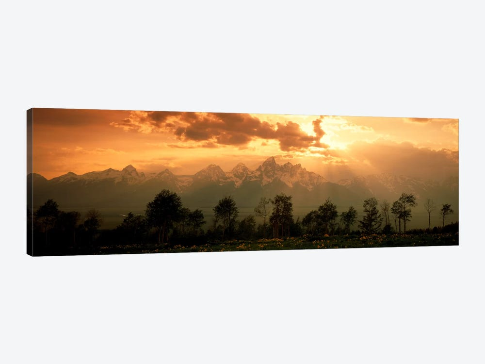 Dawn Teton Range Grand Teton National Park WY USA by Panoramic Images 1-piece Canvas Print
