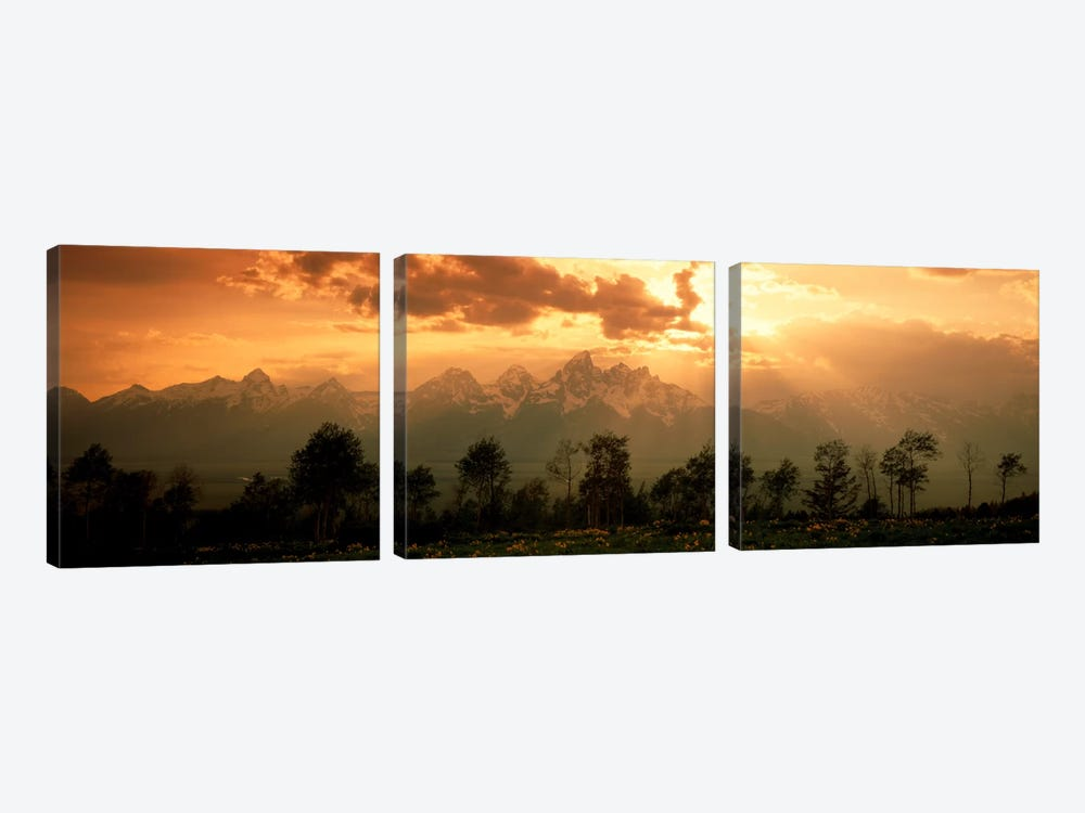 Dawn Teton Range Grand Teton National Park WY USA by Panoramic Images 3-piece Art Print