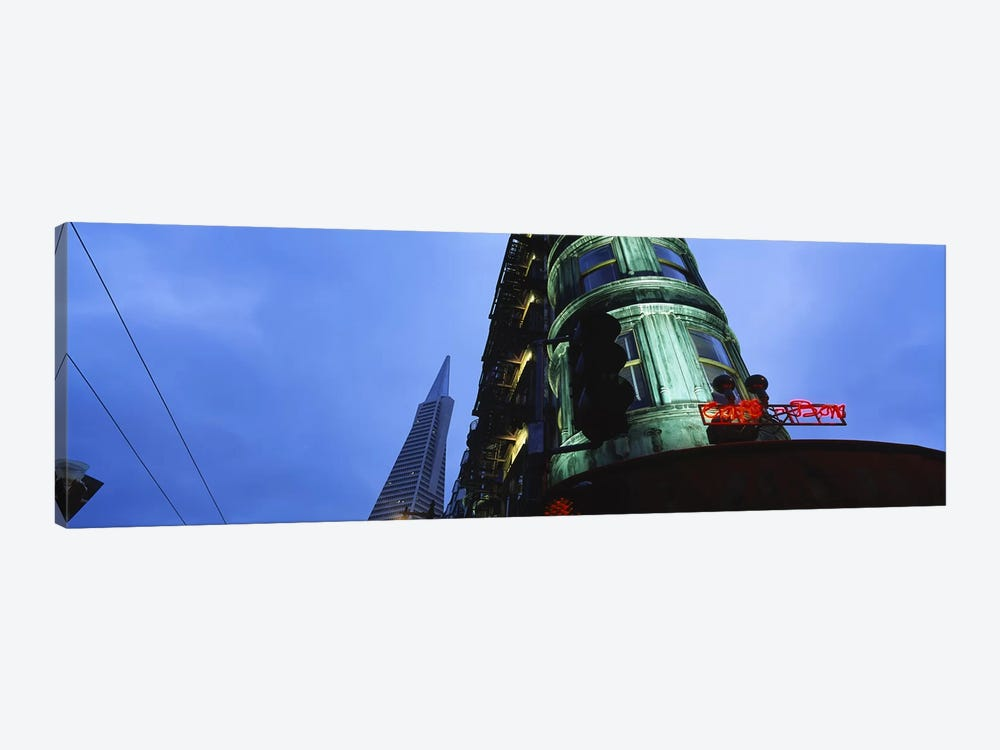 Low angle view of a building, Sentinel Building, Transamerica Pyramid, San Francisco, California, USA by Panoramic Images 1-piece Canvas Art