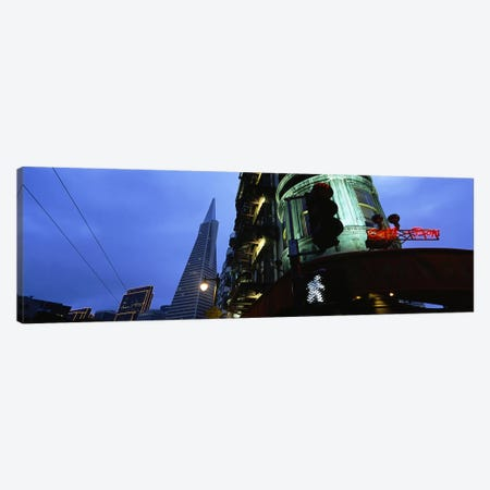 Low angle view of a building, Sentinel Building, Transamerica Pyramid, San Francisco, California, USA #2 Canvas Print #PIM6151} by Panoramic Images Canvas Wall Art