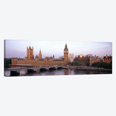 Palace Of Westminster & Westminster Bridge, City Of Westminster, London, England, United Kingdom Canvas Print #PIM6158} by Panoramic Images Canvas Wall Art