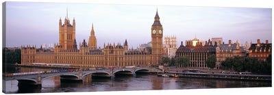 Palace Of Westminster & Westminster Bridge, City Of Westminster, London, England, United Kingdom Canvas Print #PIM6158