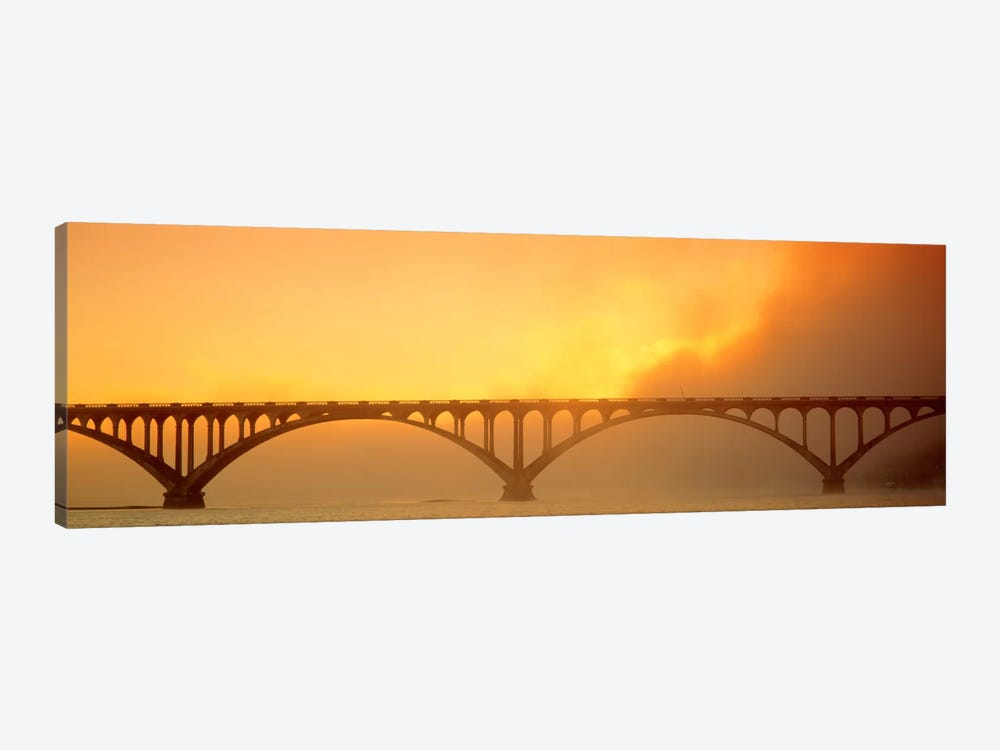 Sunset Fog And Highway 101 Bridge CA by Panoramic Images 1-piece Canvas Wall Art
