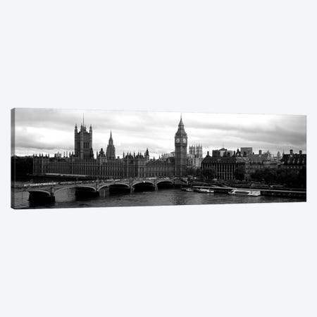 Bridge across a river, Westminster Bridge, Big Ben, Houses of Parliament, City Of Westminster, London, England Canvas Print #PIM6162} by Panoramic Images Canvas Art Print