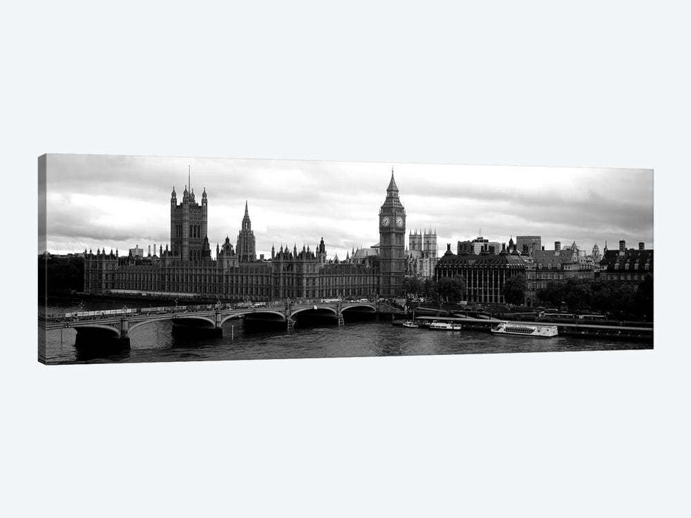 Bridge across a river, Westminster Bridge, Big Ben, Houses of Parliament, City Of Westminster, London, England by Panoramic Images 1-piece Art Print