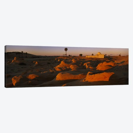 Mosque on a hill, Douz, Tunisia Canvas Print #PIM6167} by Panoramic Images Canvas Art