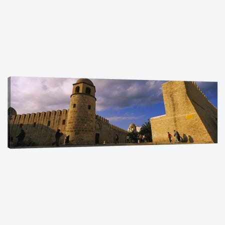 Group of people at a mosque, Great Mosque, Medina, Sousse, Tunisia Canvas Print #PIM6175} by Panoramic Images Canvas Art Print