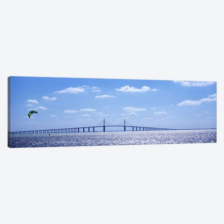 Bridge across a baySunshine Skyway Bridge, Tampa Bay, Florida, USA Canvas Print #PIM6184} by Panoramic Images Canvas Wall Art