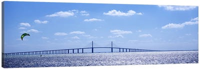 Bridge across a baySunshine Skyway Bridge, Tampa Bay, Florida, USA Canvas Print #PIM6184
