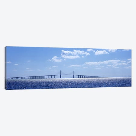 Bridge across a bay, Sunshine Skyway Bridge, Tampa Bay, Florida, USA Canvas Print #PIM6185} by Panoramic Images Canvas Wall Art