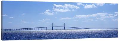 Bridge across a bay, Sunshine Skyway Bridge, Tampa Bay, Florida, USA Canvas Print #PIM6185