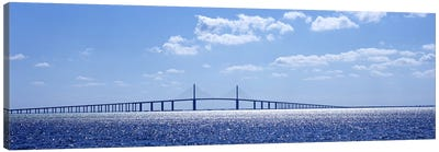 Bridge across a bay, Sunshine Skyway Bridge, Tampa Bay, Florida, USA Canvas Art Print
