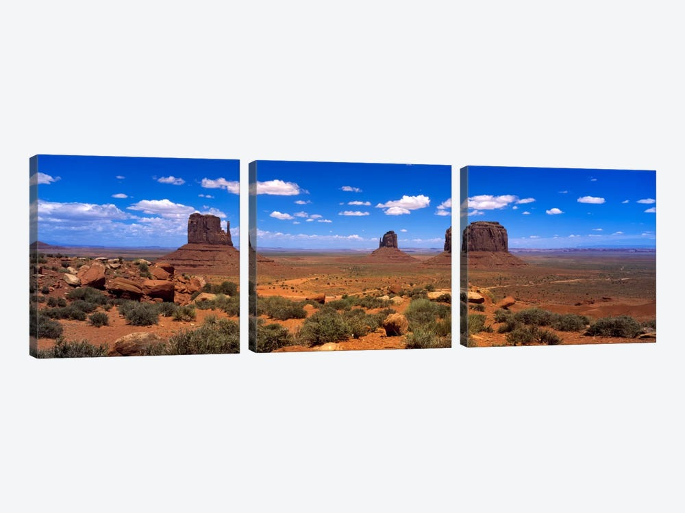 Monument Valley UT \ AZ by Panoramic Images 3-piece Art Print