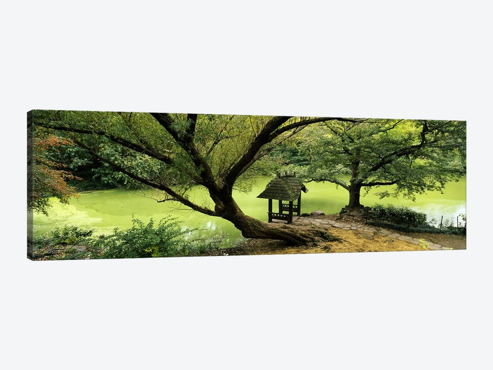 Rustic Gazebo, Wagner Cove, Central Park, New York City, New York, USA by Panoramic Images 1-piece Canvas Art