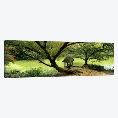 Rustic Gazebo, Wagner Cove, Central Park, New York City, New York, USA 3-Piece Canvas #PIM6194} by Panoramic Images Art Print