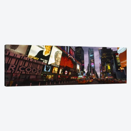 Buildings lit up at night, Times Square, Manhattan, New York City, New York State, USA Canvas Print #PIM6196} by Panoramic Images Canvas Art Print