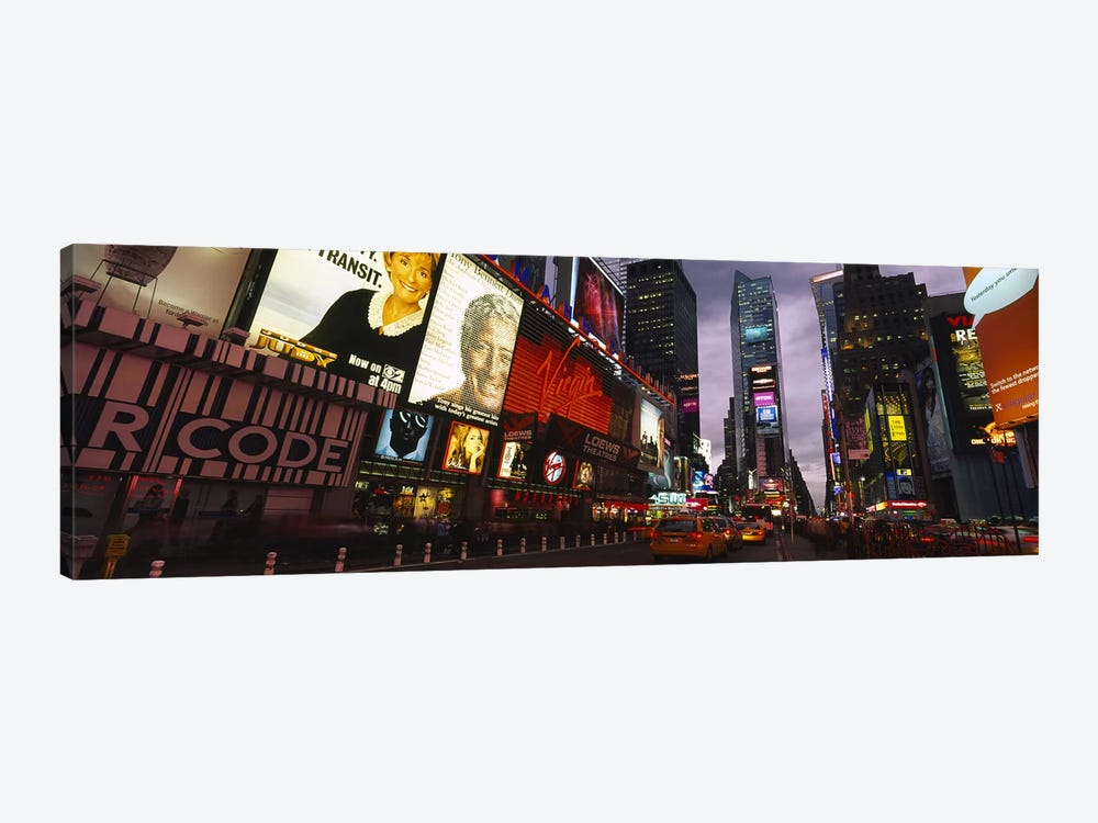 Buildings lit up at night, Times Square, Manhattan, New York City, New York State, USA by Panoramic Images 1-piece Canvas Wall Art