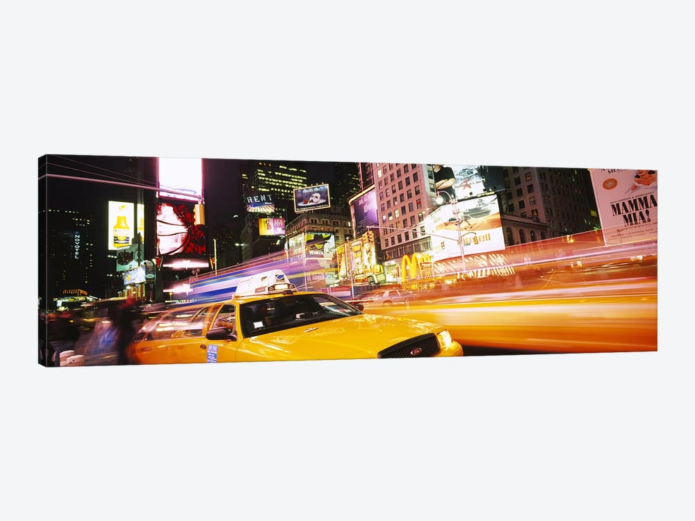 Yellow Taxi Motion Blur, Times Square, Manhattan, New York City, New York, USA by Panoramic Images 1-piece Art Print