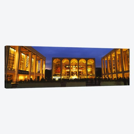 Entertainment building lit up at night, Lincoln Center, Manhattan, New York City, New York State, USA Canvas Print #PIM6198} by Panoramic Images Canvas Artwork