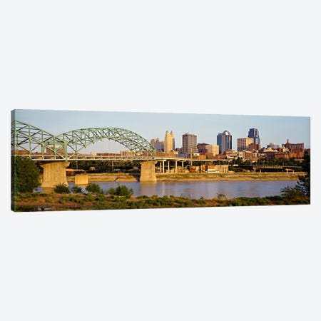 Bridge over a riverKansas city, Missouri, USA Canvas Print #PIM61} by Panoramic Images Canvas Artwork