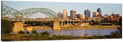 Bridge over a riverKansas city, Missouri, USA Canvas Print #PIM61