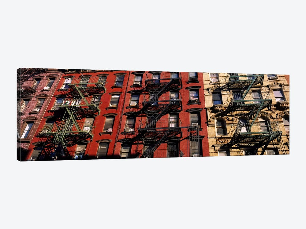 Fire Escapes, Little Italy, Lower Manhattan, New York City, New York, USA by Panoramic Images 1-piece Canvas Print