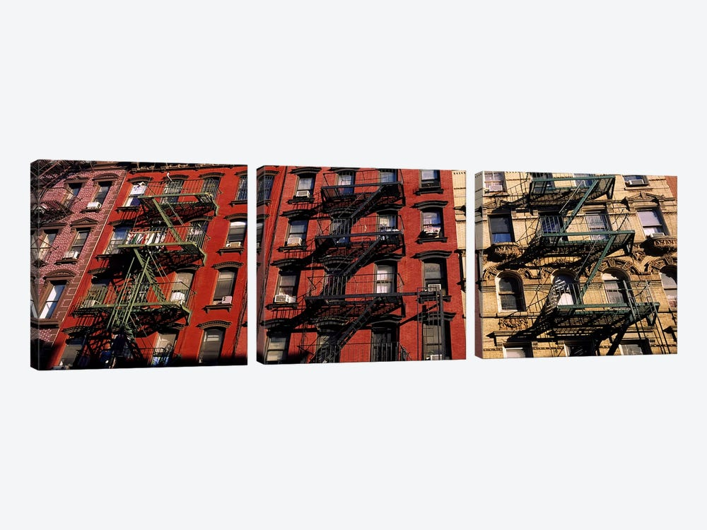 Fire Escapes, Little Italy, Lower Manhattan, New York City, New York, USA by Panoramic Images 3-piece Art Print