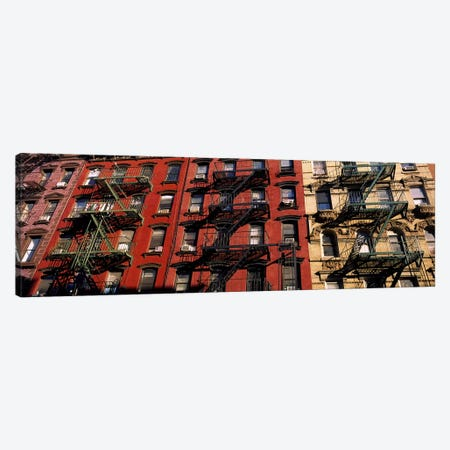 Fire Escapes, Little Italy, Lower Manhattan, New York City, New York, USA 3-Piece Canvas #PIM6200} by Panoramic Images Canvas Wall Art