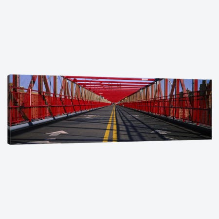 Arrow signs on a bridge, Williamsburg Bridge, New York City, New York State, USA Canvas Print #PIM6202} by Panoramic Images Canvas Art