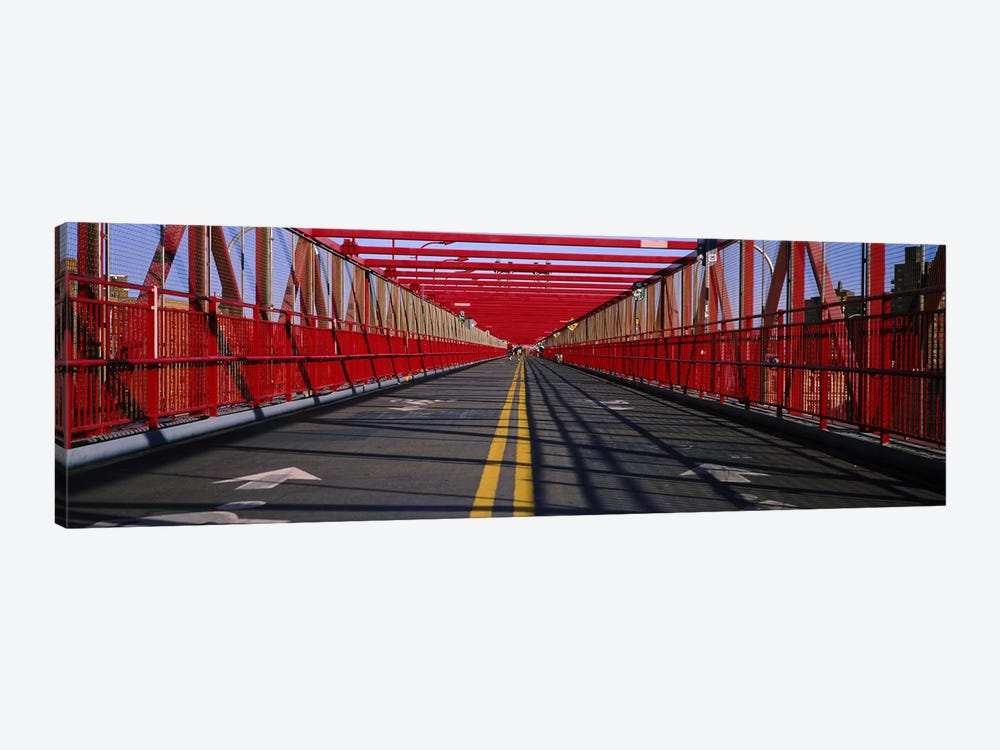 Arrow signs on a bridge, Williamsburg Bridge, New York City, New York State, USA by Panoramic Images 1-piece Canvas Print