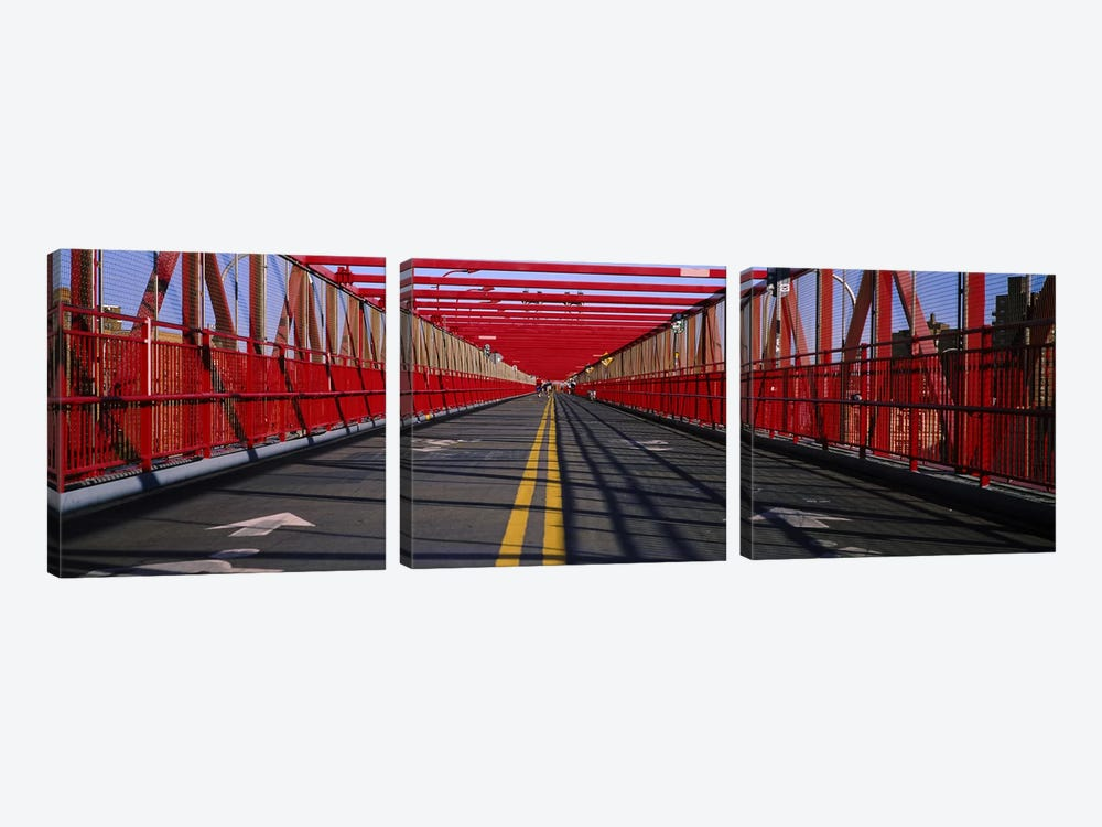 Arrow signs on a bridge, Williamsburg Bridge, New York City, New York State, USA by Panoramic Images 3-piece Art Print
