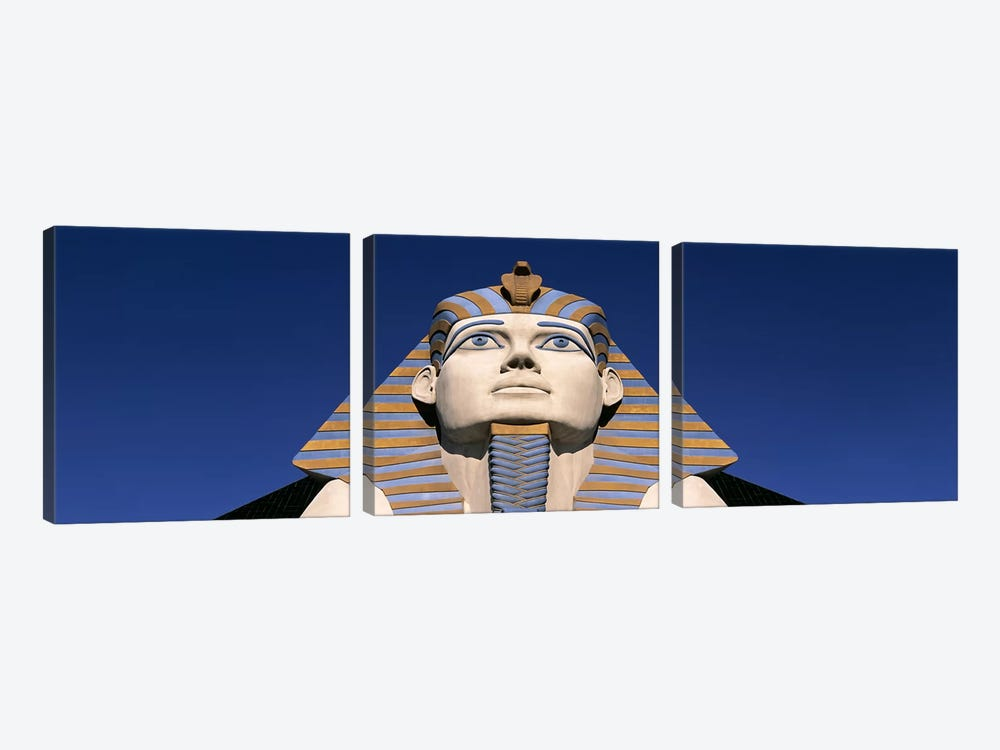 Low angle view of a sphinx, Luxor Hotel Sphinx, Las Vegas, Nevada, USA by Panoramic Images 3-piece Canvas Wall Art